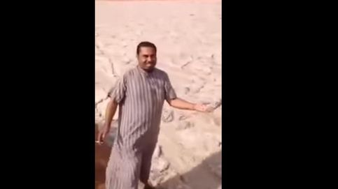 Un misterioso 'río de arena' aparece en un enorme desierto de Oriente Medio