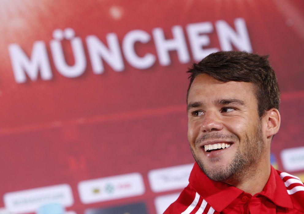 Foto: Juan Bernat, en su presentación como nuevo jugador del Bayern de Múnich.