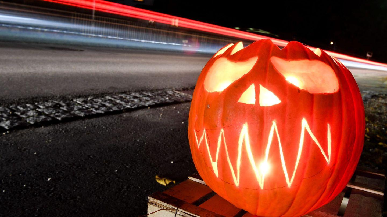 Calabaza en Alemania, durante la noche de Halloween. (EFE)