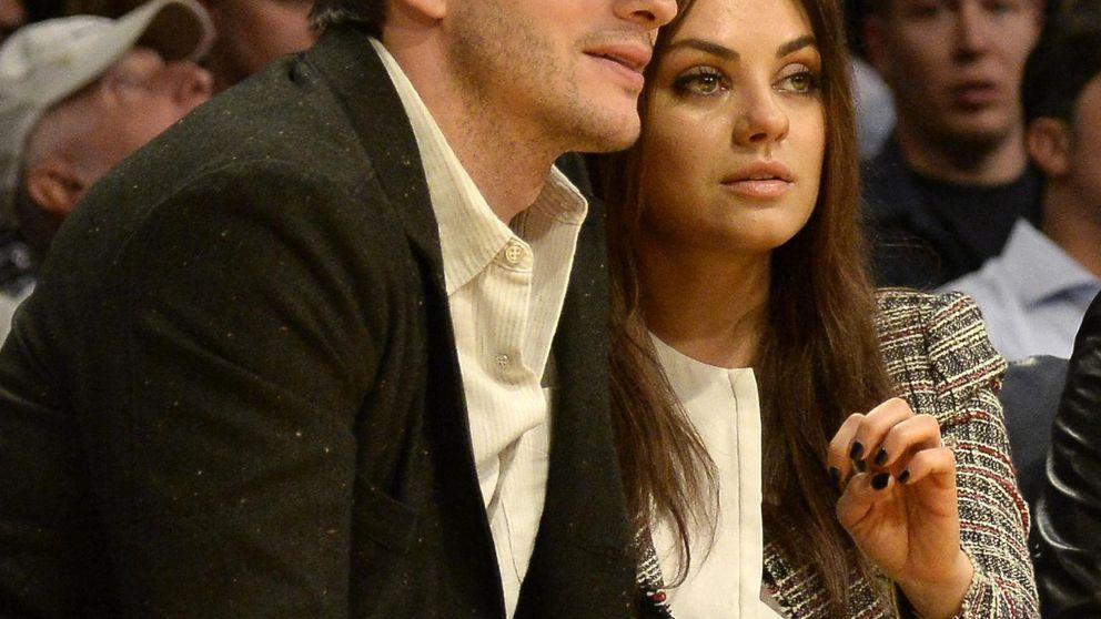 Ashton Kutcher, Mila Kunis y su patriótico matrimonio el 4 de julio
