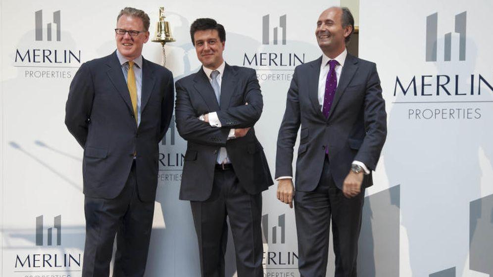 Foto: Directivos de Merlin Properties el día de su salida a bolsa el pasado 30 de junio de 2014.