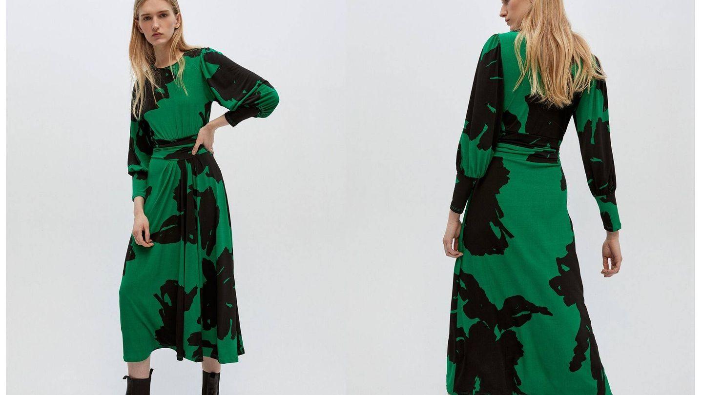 Este vestido es apto para llevar con zapatos planos (Cortesía)