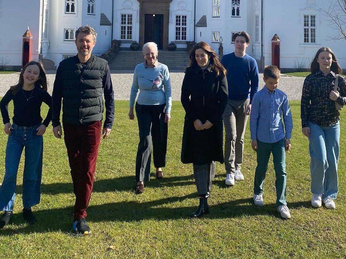 Foto: La familia real danesa se ha reunido en Marselisborg. (Casa Real danesa)