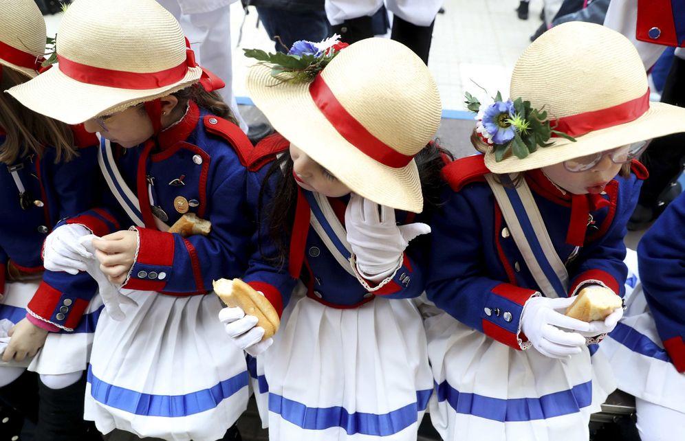 Foto: Niños participantes en la tamborrada infantil del pasado año. (EFE)