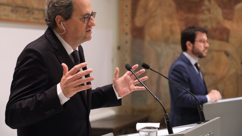 Foto: El presidente catalán, Quim Torra, y el vicepresidente del Govern, Pere Aragonès. (EFE)
