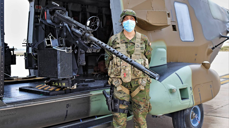 Ametralladora de 12,70 mm montada en el NH-90. (Juanjo Fernández)