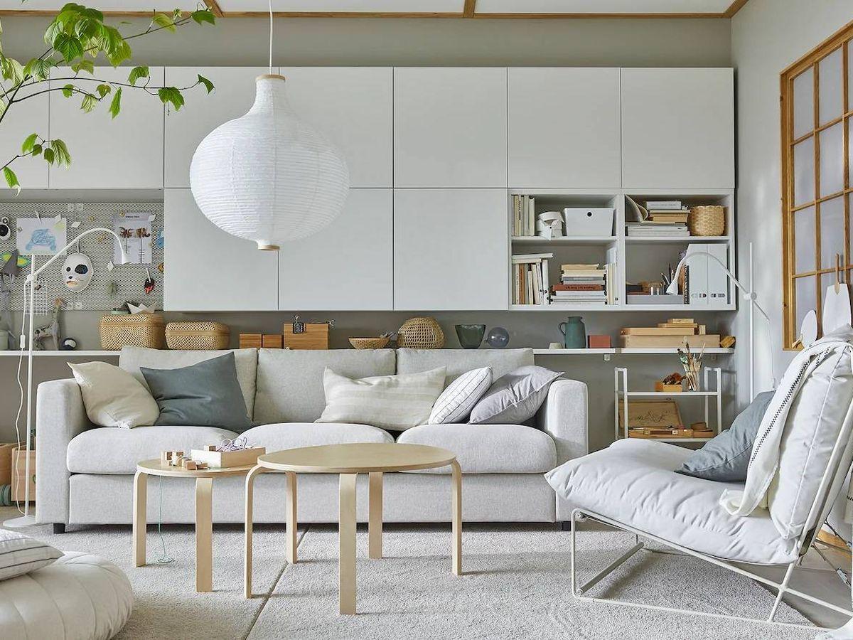 Foto: Salón de Ikea de decoración nórdica. (Cortesía)