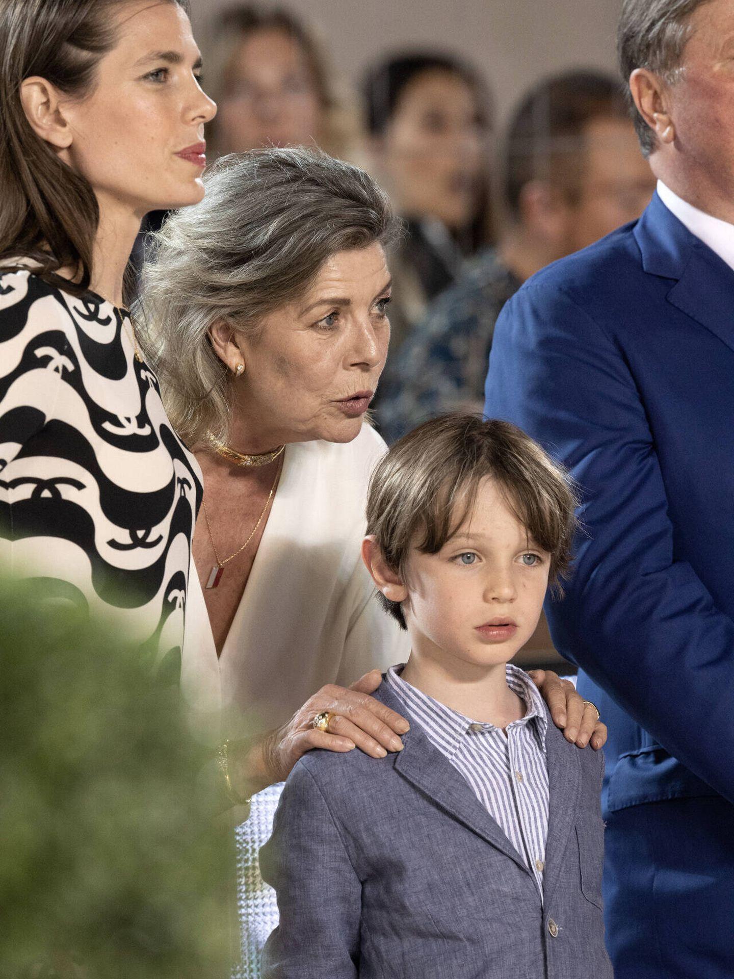 Carolina de Mónaco, muy cariñosa con su nieto. (Gtres)