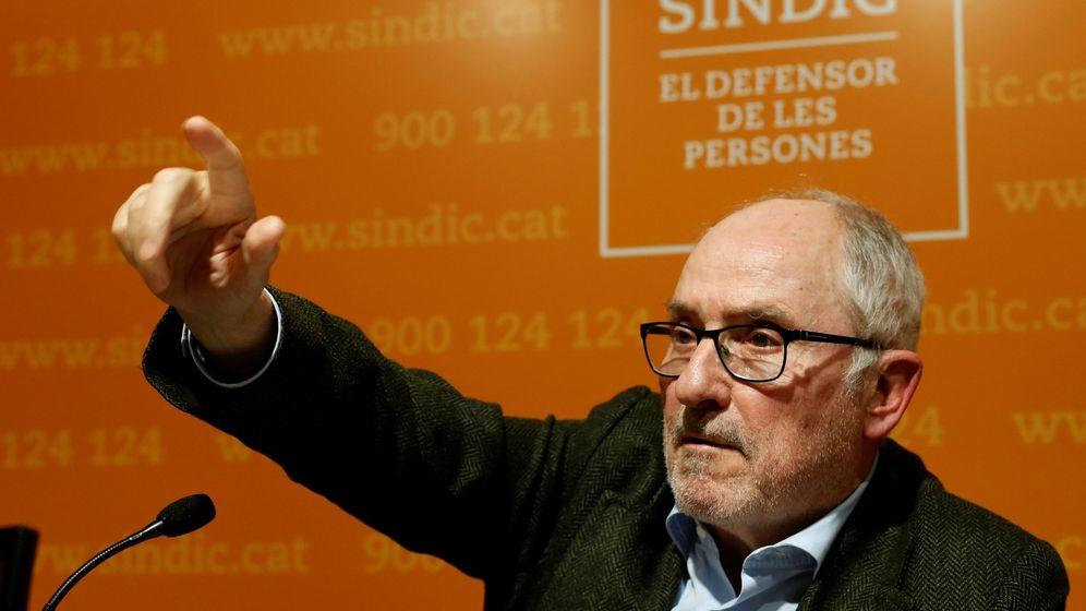 Foto: El 'síndic de greuges', Rafael Ribó, en una rueda de prensa. (EFE)