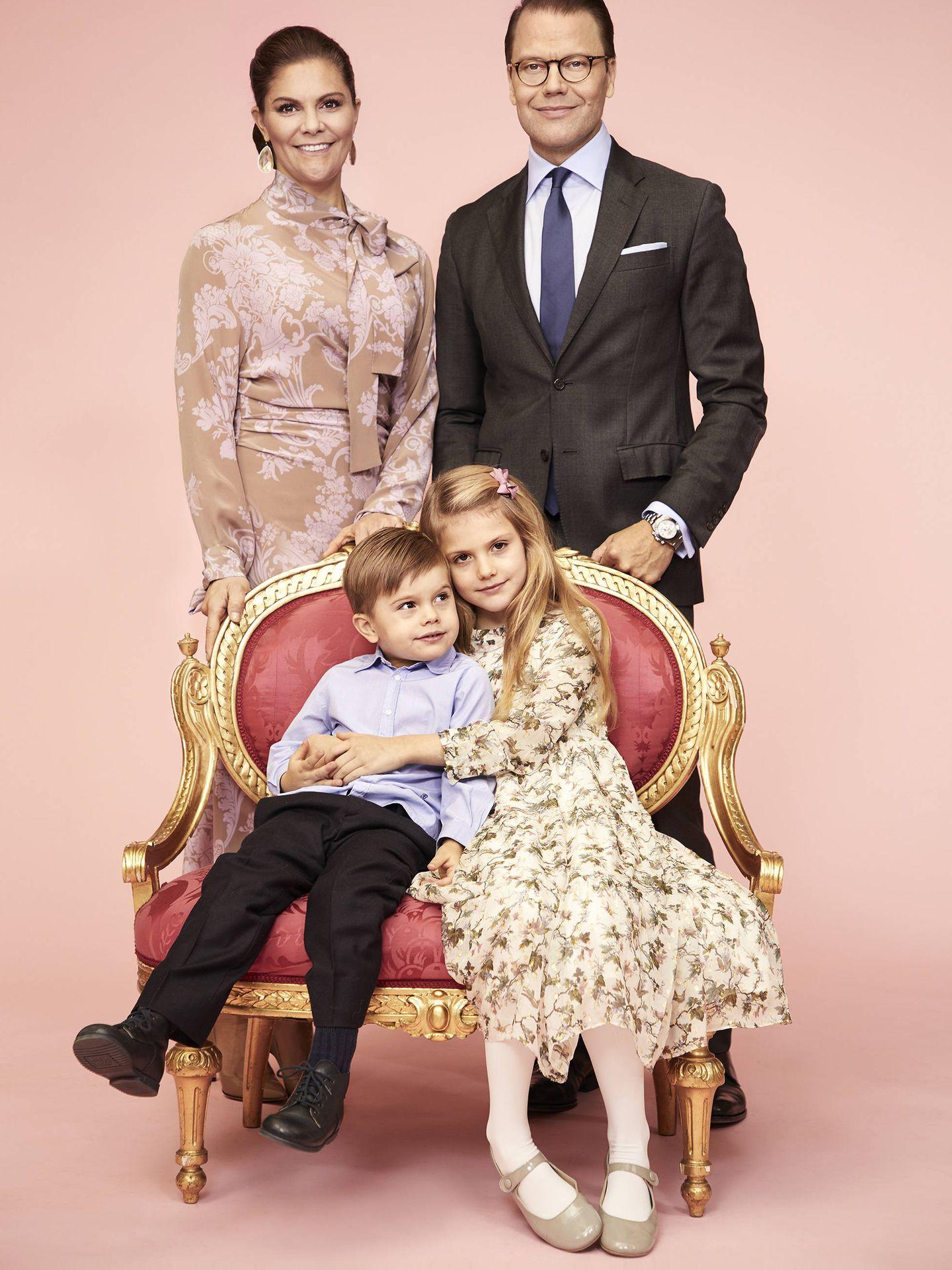 La princesa Victoria, con su familia. (Anna-Lena Ahlström, Casa Real de Suecia)