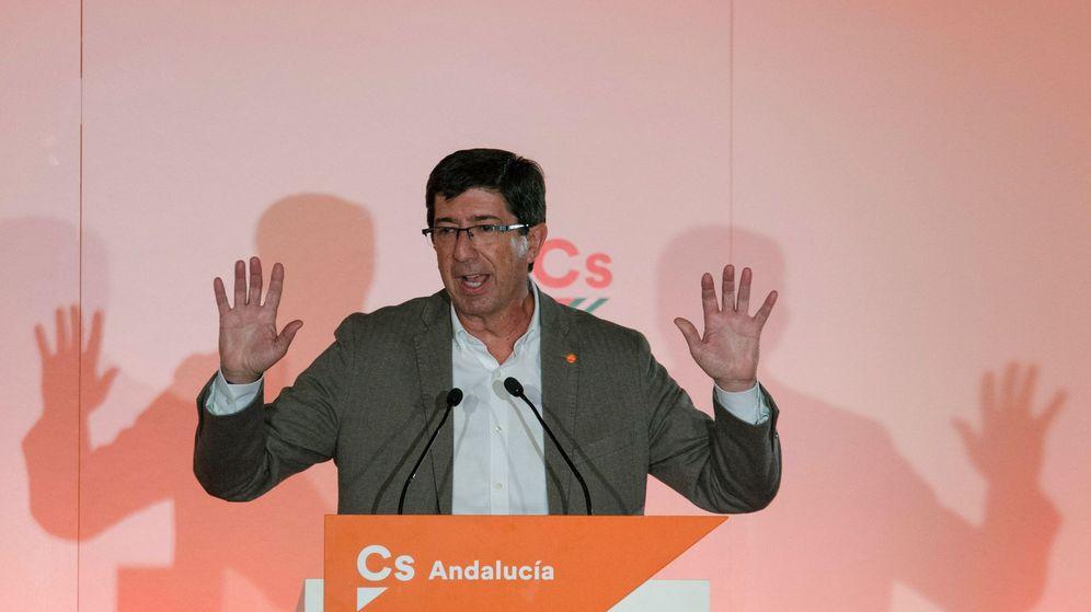 Foto: Juan Marín durante un acto en Linares (Jaén). EFE