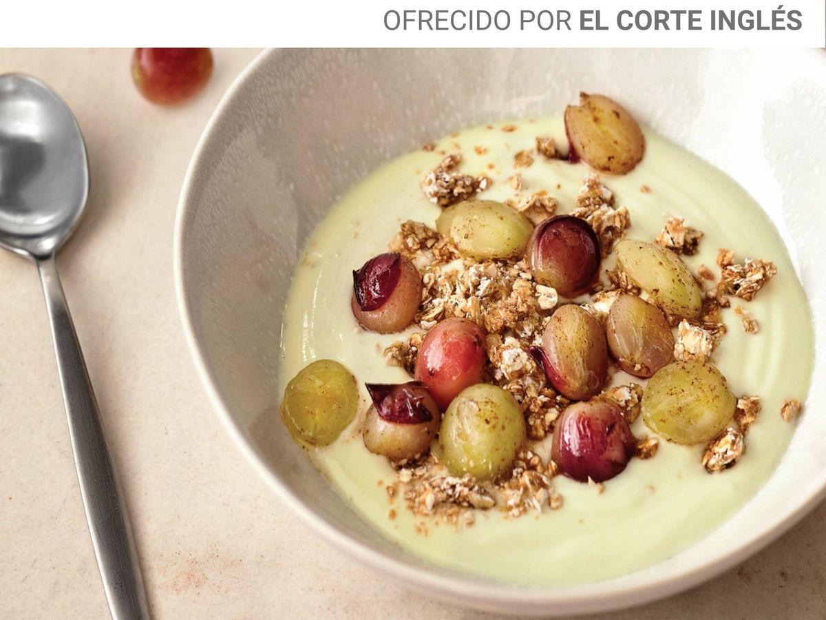 Foto: Yogur casero con uvas. (APTC)