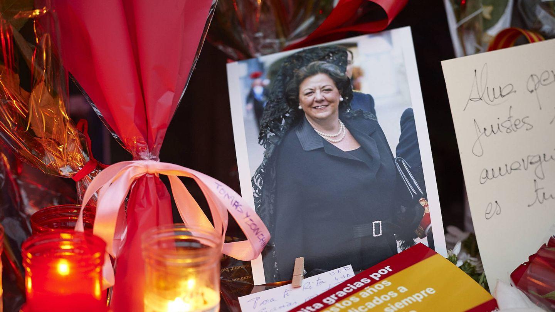 Homenajes tras la muerte de Rita Barberá. (Getty)