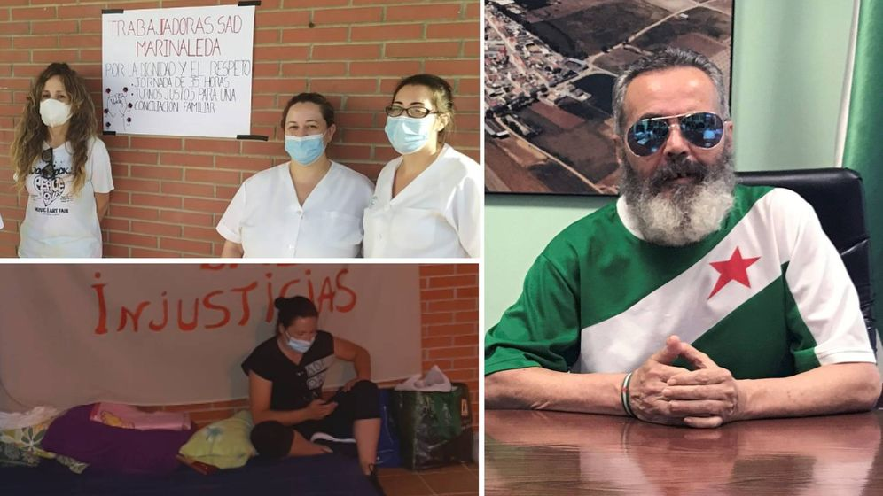 Foto: A la izquierda, dos protestas ciudadanas ocurridas recientemente; a la derecha, Juan Manuel Sánchez Gordillo en una imagen de archivo.
