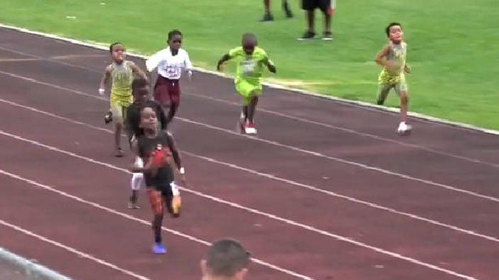 El nuevo Usain Bolt ya vuela en las pistas (aunque solo tiene siete años)