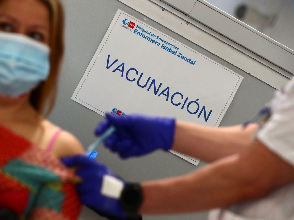 Foto: Vacunación en Madrid (Reuters)