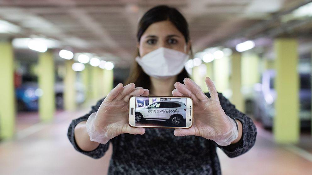 Los Mossos identifican al hombre que pintó rata contagiosa en el coche de una doctora