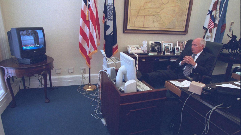 El vicepresidente de Estados Unidos Dick Cheney, después de los ataques (Reuters)