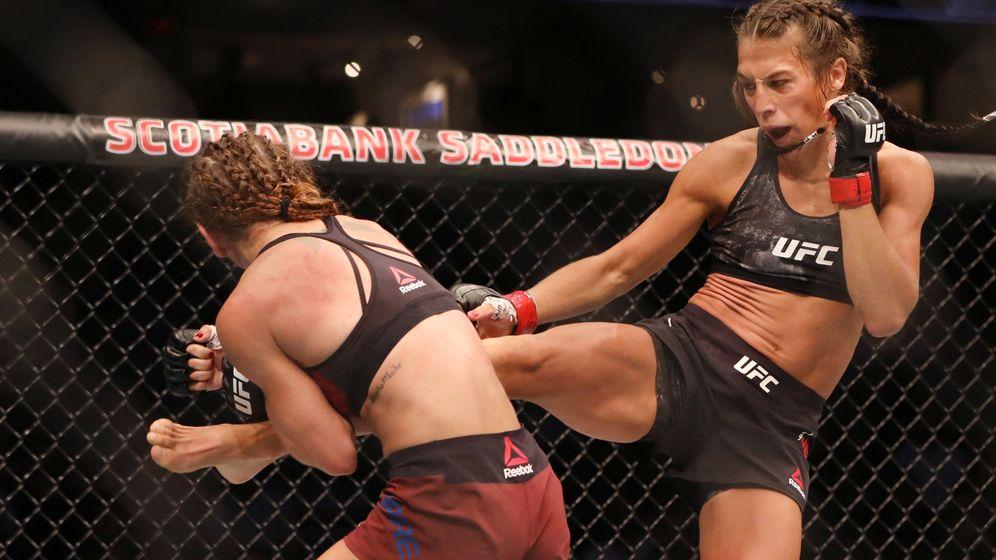 Foto: Joanna Jedrzejczyk en un combate anterior (USA TODAY Sports)