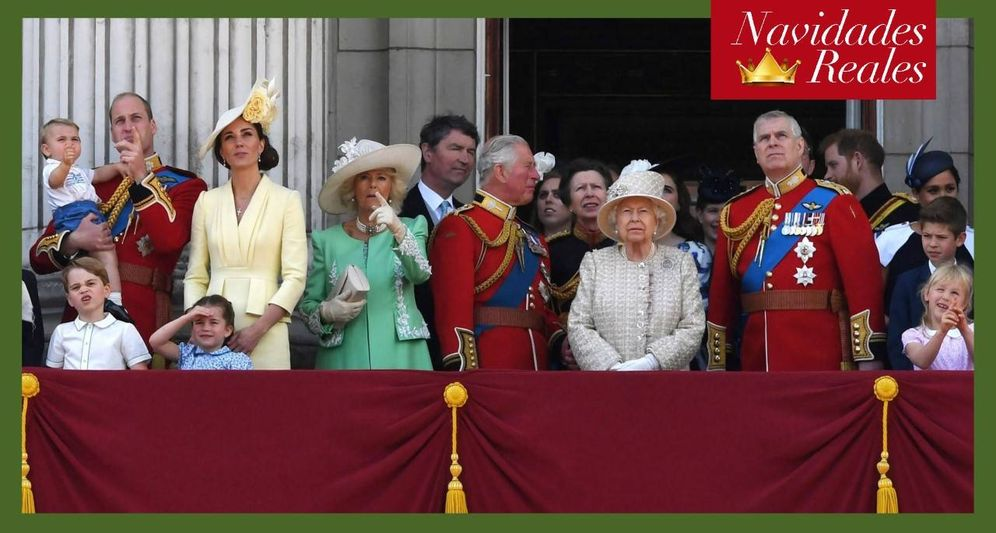 Foto: La familia real británica durante el último Trooping the Colour. (Reuters)