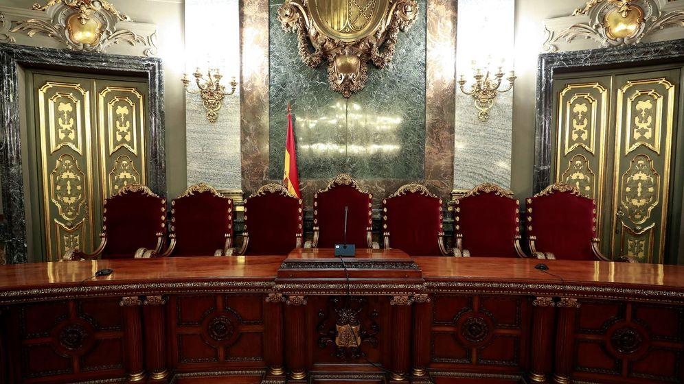 Foto: Vista de la presidencia de la Sala Penal del Tribunal Supremo en la que tendrá lugar el juicio del 'procés'. (EFE)