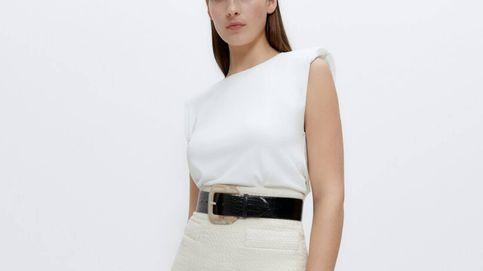 La falda midi de Uterqüe creada para presumir de cintura de avispa