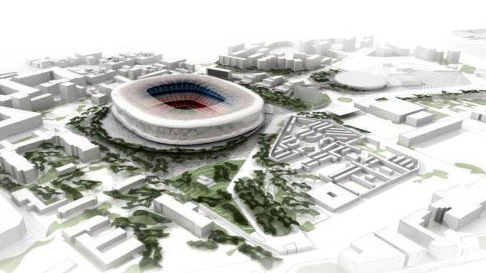 Foto: Imagen facilitada por el FC Barcelona de la recreación del posible proyecto de ordenación del nuevo Camp Nou, que se denomina Espai Barça. (EFE)