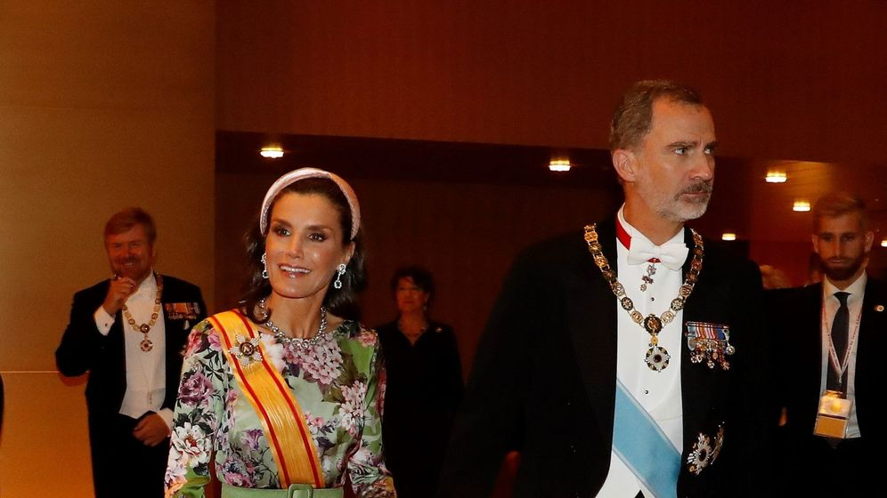 Foto: Felipe y Letizia, durante la entronización de Naruhito. (EFE)