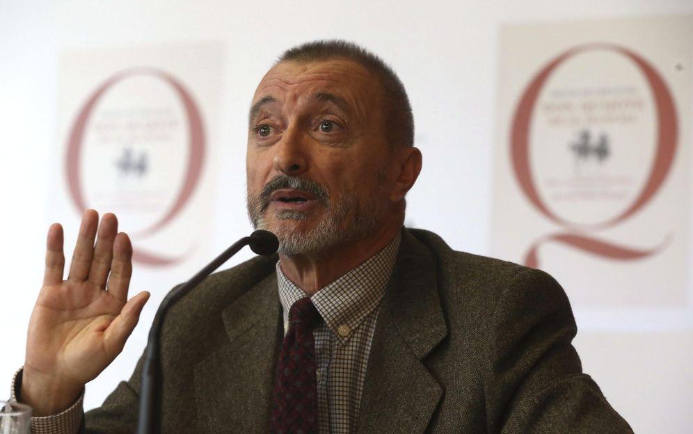 Foto: Arturo Pérez Reverte, en la presentación de la edición popular y escolar de El Quijote. (EFE)
