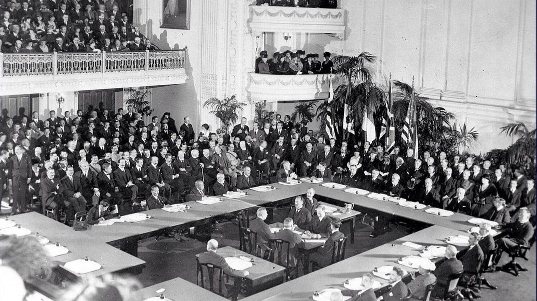 Los participantes en el Tratado de Versalles