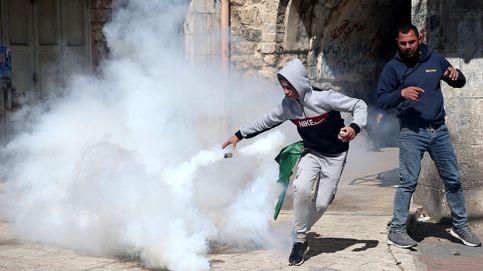 Protestas de palestinos en hebrón