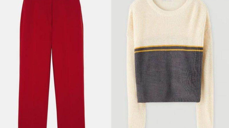 Pantalón Zara y jersey Pull & Bear.