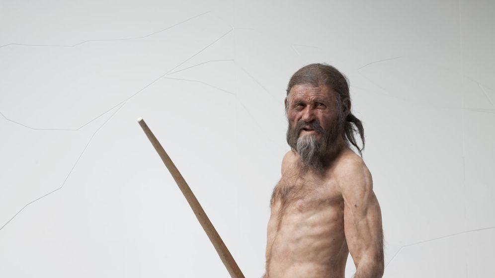 Foto: Ötzi en el momento de su muerte, a los 46 años