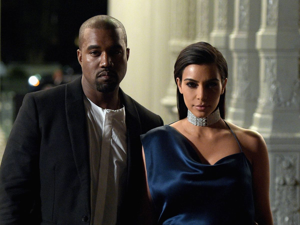 Foto:  Kanye West y Kim Kardashian. (Getty)