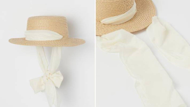 Sombrero de paja anudado de HyM. (Cortesía)
