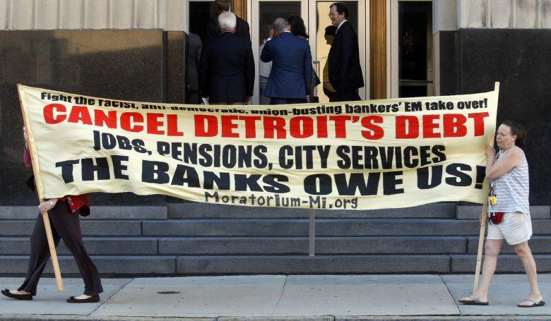 Proteta en Detroit por la elevada deuda de la ciudad. (Reuters)