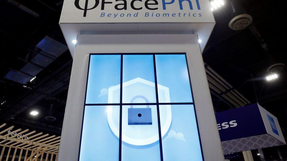 Foto: Logo de Facephi en una conferencia en Las Vegas (EEUU). (Reuters)