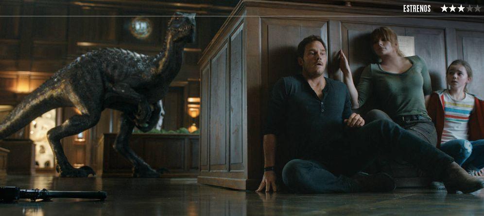 Foto: Chris Pratt y Bryce Dallas Howard, en 'Jurassic World: el reino caído'. (Universal)