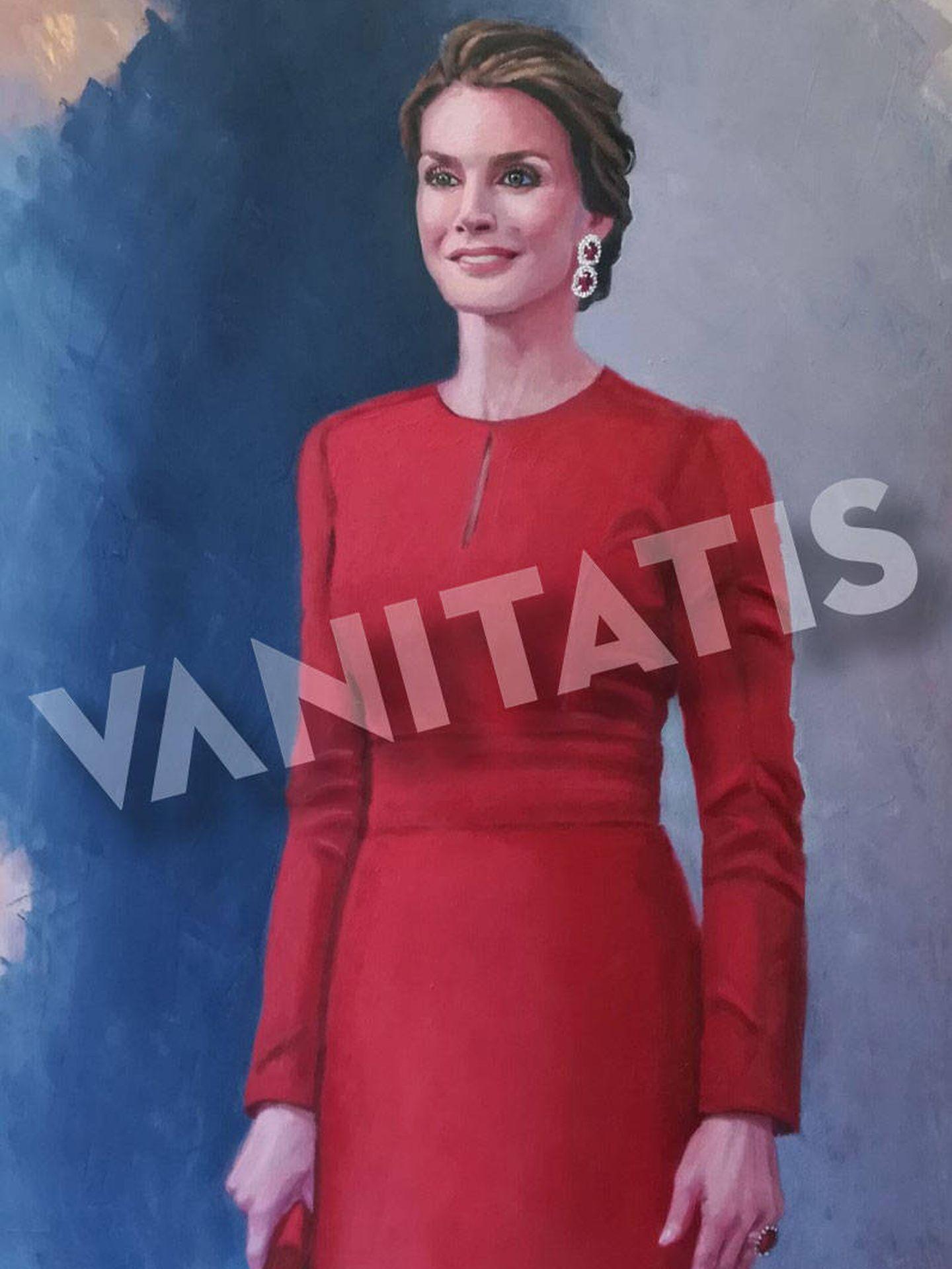 Retrato de la reina Letizia. (Imagen cedida por Marta de Arespacochaga. Prohibida su reproducción)