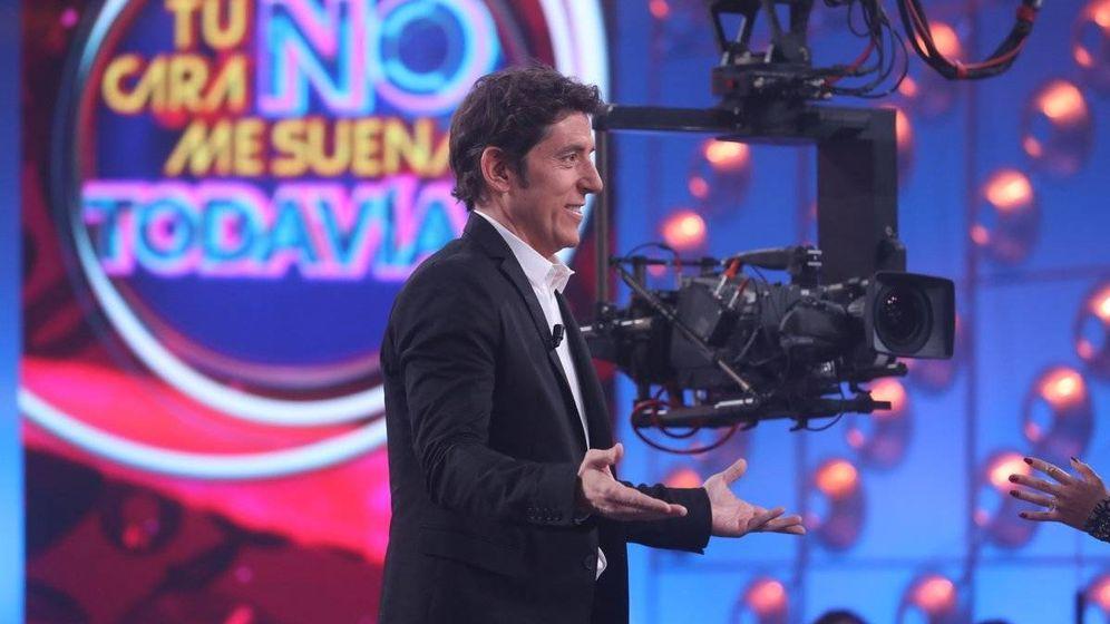 Foto: Manel Fuentes en el plató de 'Tu cara no me suena todavía'. (José Irún)
