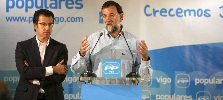 Foto: El presidente del Gobierno, Mariano Rajoy (d), y jefe del Ejecutivo gallego, Alberto Núñez Feijóo. (EFE)