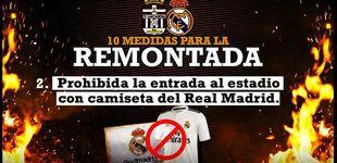 Post de La polémica broma del Cartagena a los aficionados del Real Madrid