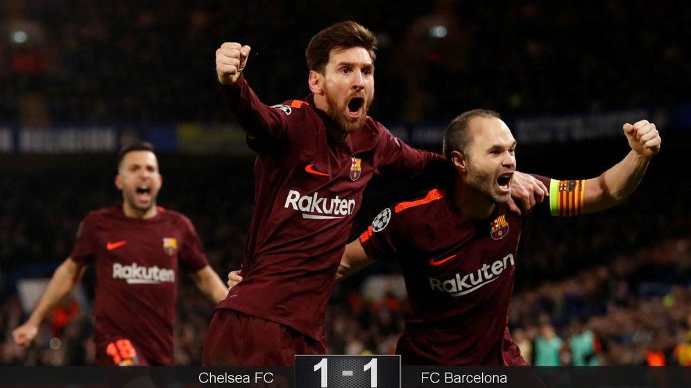 Foto: Messi e Iniesta vuelven a tomar Stamford Bridge. (Reuters)