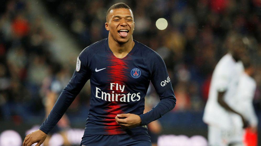 Foto: Mbappé celebra un gol con el Paris Saint-Germain. (Reuters)