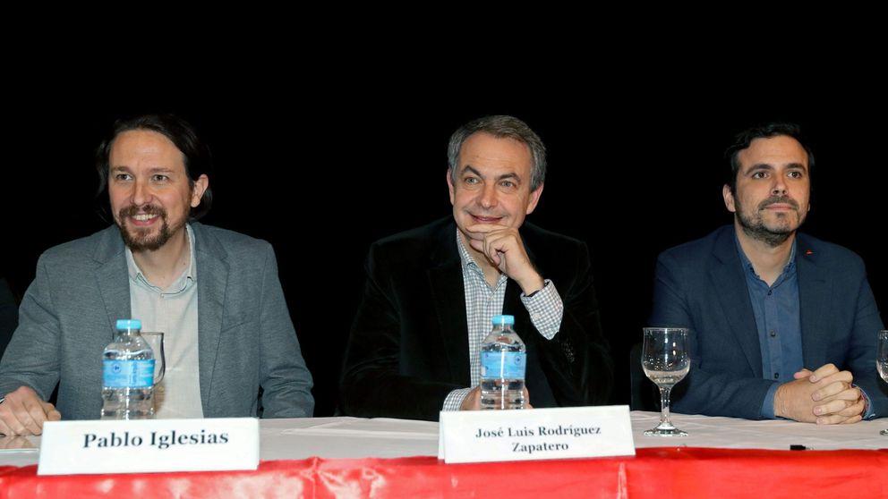 Zapatero, Iglesias y Garzón se hermanan para apoyar al Gobierno de Evo Morales