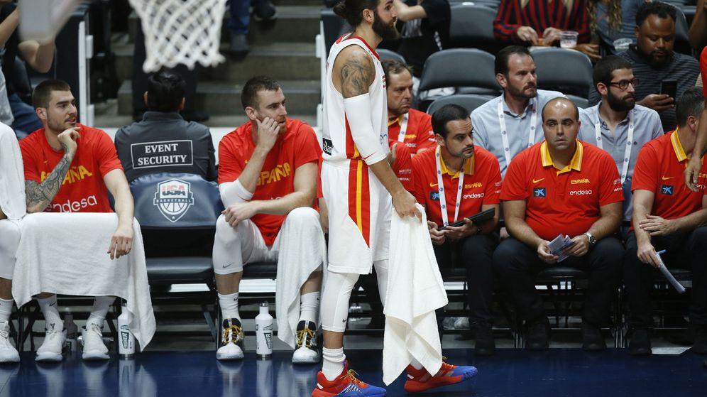 Foto: Ricky Rubio durante el amistoso Estados Unidos-España disputado en Anaheim (Estados Unidos) este viernes. (EFE)