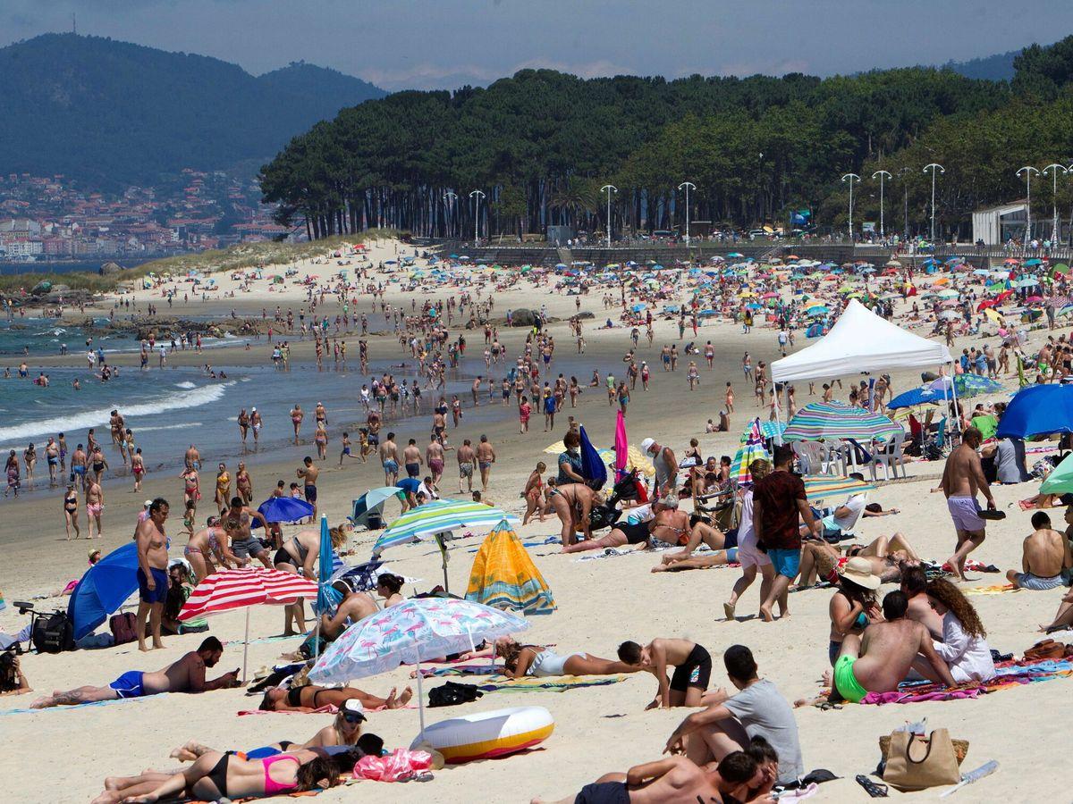 Foto: Playa de Samil, en Vigo. (EFE)