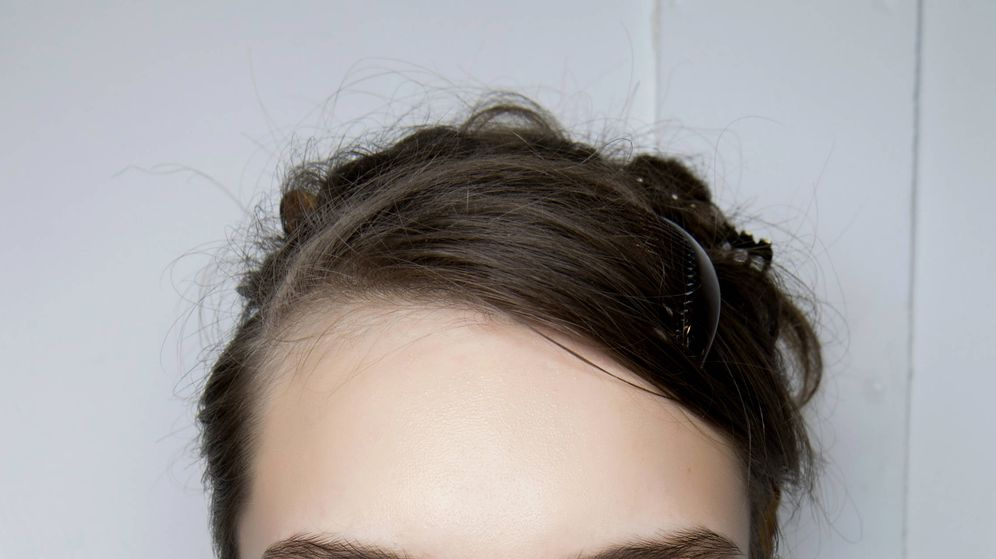 Foto: Modelo con delineado fino para agrandar el ojo. (Imaxtree)