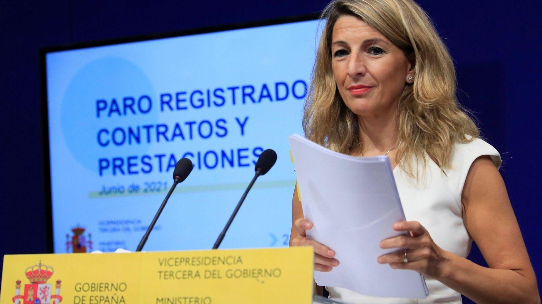 La vicepresidenta tercera y ministra de Trabajo, Yolanda Díaz. (EFE)
