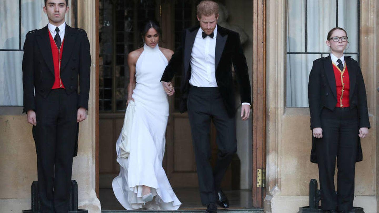 Meghan Markle luce su vestido de Stella McCartney. (Reuters)